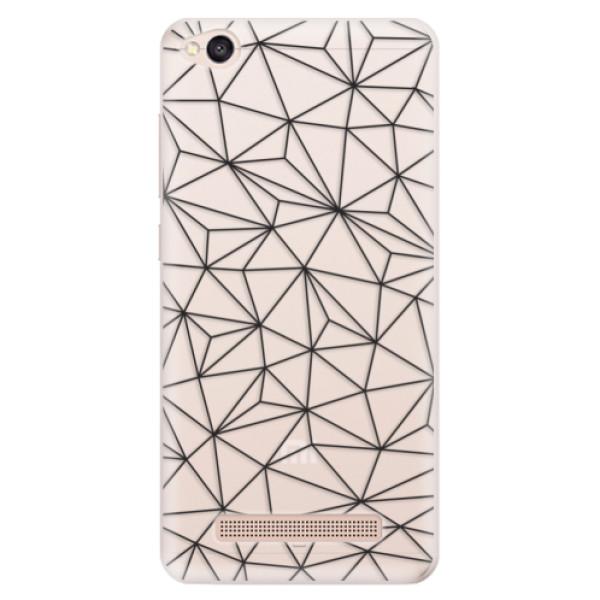 Silikonové pouzdro iSaprio - Abstract Triangles 03 - black - Xiaomi Redmi 4A