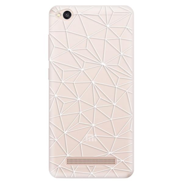 Silikonové pouzdro iSaprio - Abstract Triangles 03 - white - Xiaomi Redmi 4A