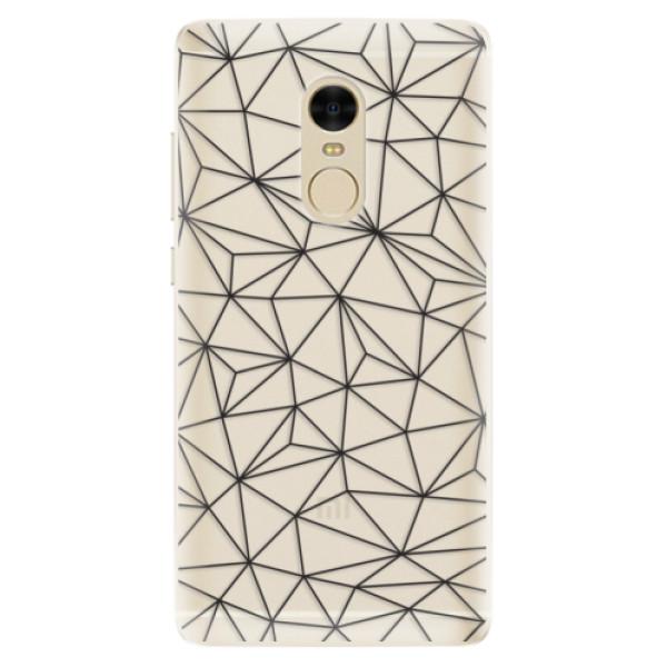 Silikonové pouzdro iSaprio - Abstract Triangles 03 - black - Xiaomi Redmi Note 4
