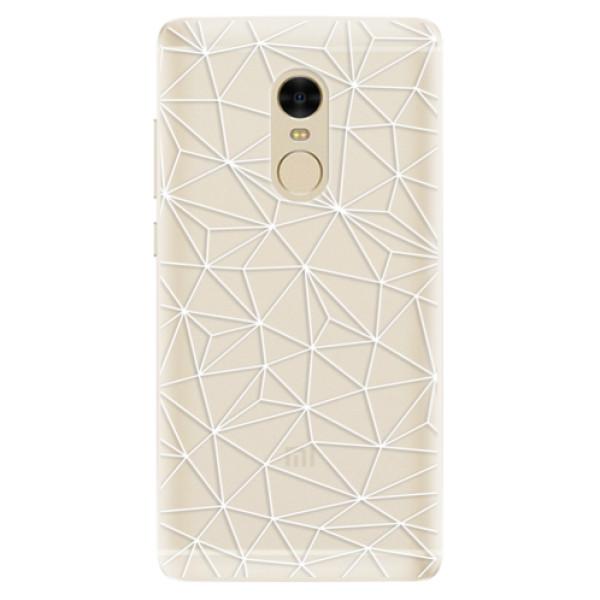 Silikonové pouzdro iSaprio - Abstract Triangles 03 - white - Xiaomi Redmi Note 4
