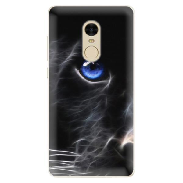 Silikonové pouzdro iSaprio - Black Puma - Xiaomi Redmi Note 4