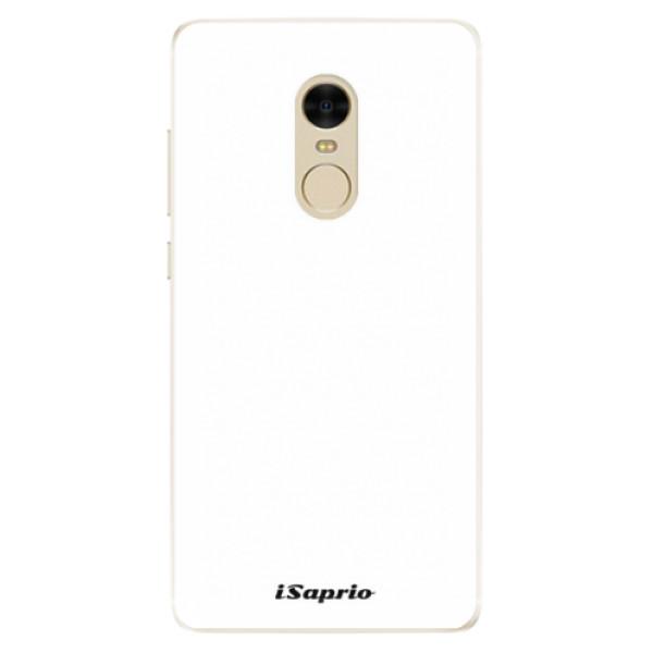 Silikonové pouzdro iSaprio - 4Pure - bílý - Xiaomi Redmi Note 4