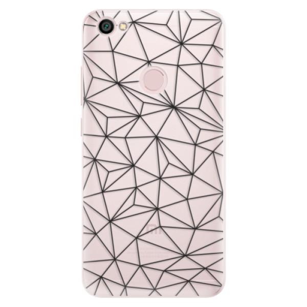 Silikonové pouzdro iSaprio - Abstract Triangles 03 - black - Xiaomi Redmi Note 5A / 5A Prime