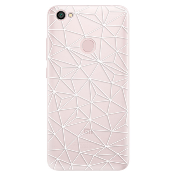 Silikonové pouzdro iSaprio - Abstract Triangles 03 - white - Xiaomi Redmi Note 5A / 5A Prime