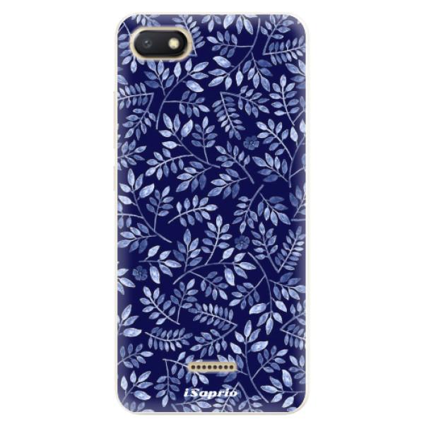 Silikonové pouzdro iSaprio - Blue Leaves 05 - Xiaomi Redmi 6A