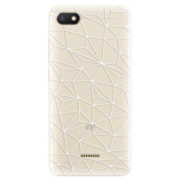 Silikonové pouzdro iSaprio - Abstract Triangles 03 - white - Xiaomi Redmi 6A