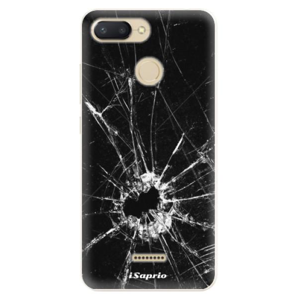 Silikonové pouzdro iSaprio - Broken Glass 10 - Xiaomi Redmi 6