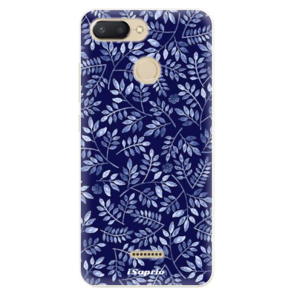 Silikonové pouzdro iSaprio - Blue Leaves 05 - Xiaomi Redmi 6