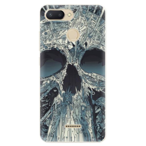 Silikonové pouzdro iSaprio - Abstract Skull - Xiaomi Redmi 6