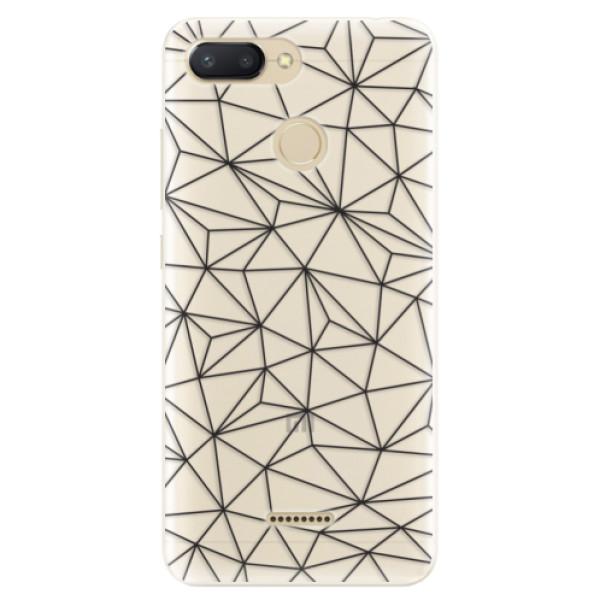 Silikonové pouzdro iSaprio - Abstract Triangles 03 - black - Xiaomi Redmi 6