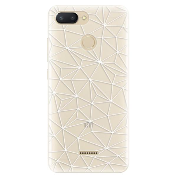 Silikonové pouzdro iSaprio - Abstract Triangles 03 - white - Xiaomi Redmi 6