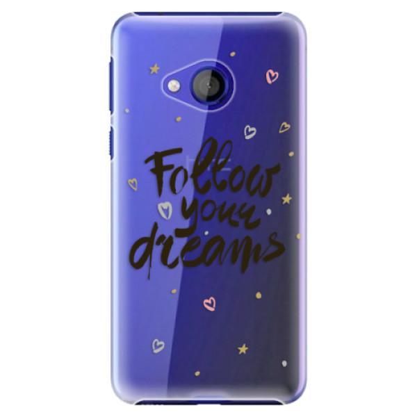 Plastové pouzdro iSaprio - Follow Your Dreams - black - HTC U Play