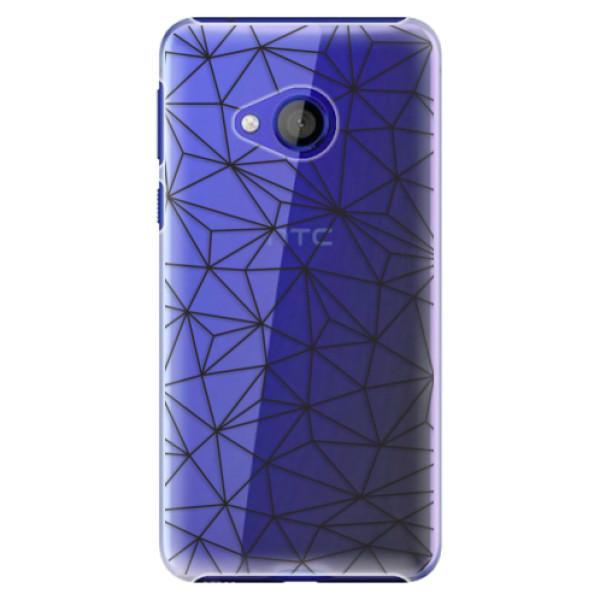 Plastové pouzdro iSaprio - Abstract Triangles 03 - black - HTC U Play