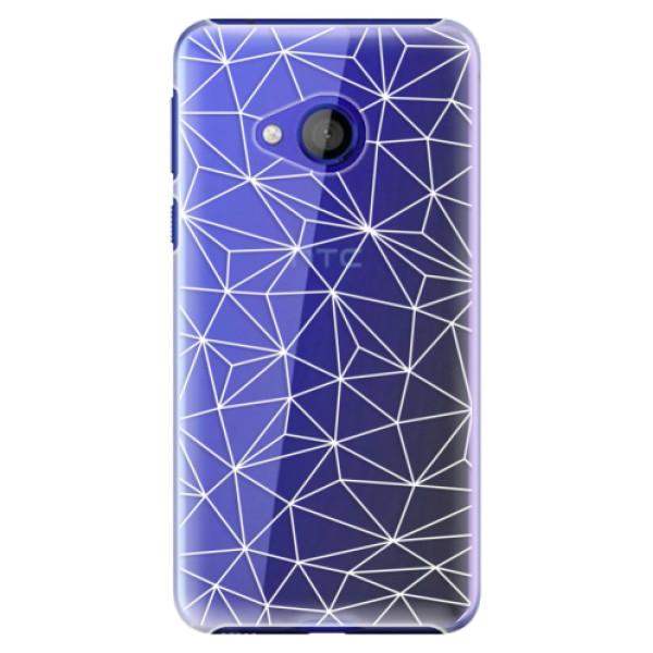 Plastové pouzdro iSaprio - Abstract Triangles 03 - white - HTC U Play