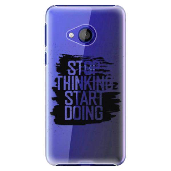 Plastové pouzdro iSaprio - Start Doing - black - HTC U Play