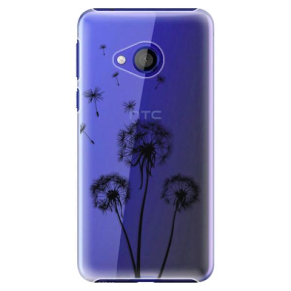 Plastové pouzdro iSaprio - Three Dandelions - black - HTC U Play