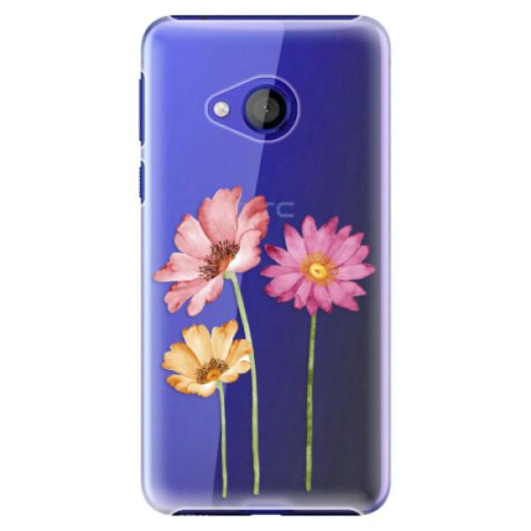 Plastové pouzdro iSaprio - Three Flowers - HTC U Play