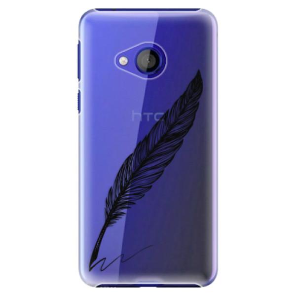 Plastové pouzdro iSaprio - Writing By Feather - black - HTC U Play