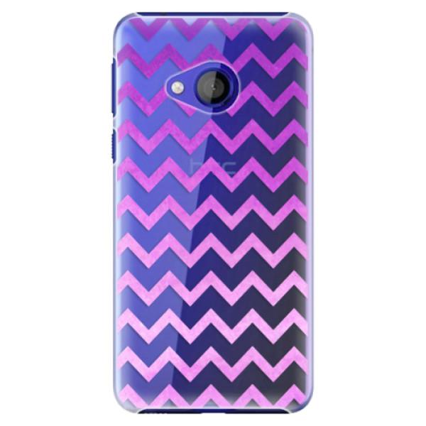 Plastové pouzdro iSaprio - Zigzag - purple - HTC U Play