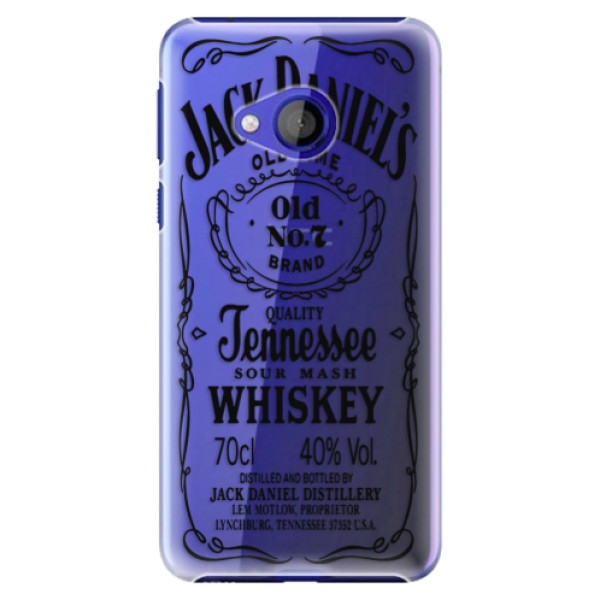 Plastové pouzdro iSaprio - Transparent Black Jack - HTC U Play