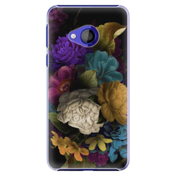 Plastové pouzdro iSaprio - Dark Flowers - HTC U Play