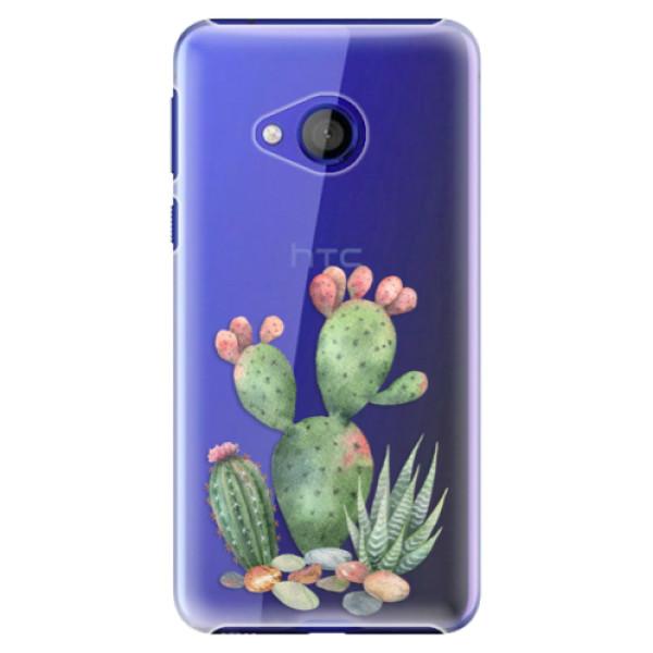 Plastové pouzdro iSaprio - Cacti 01 - HTC U Play