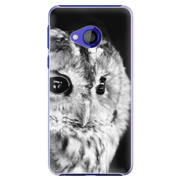 Plastové pouzdro iSaprio - BW Owl - HTC U Play