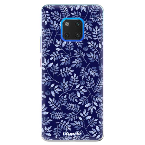 Silikonové pouzdro iSaprio - Blue Leaves 05 - Huawei Mate 20 Pro