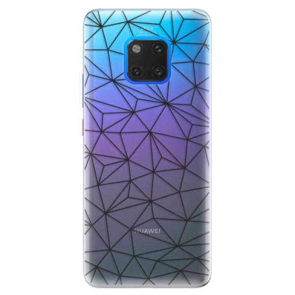 Silikonové pouzdro iSaprio - Abstract Triangles 03 - black - Huawei Mate 20 Pro