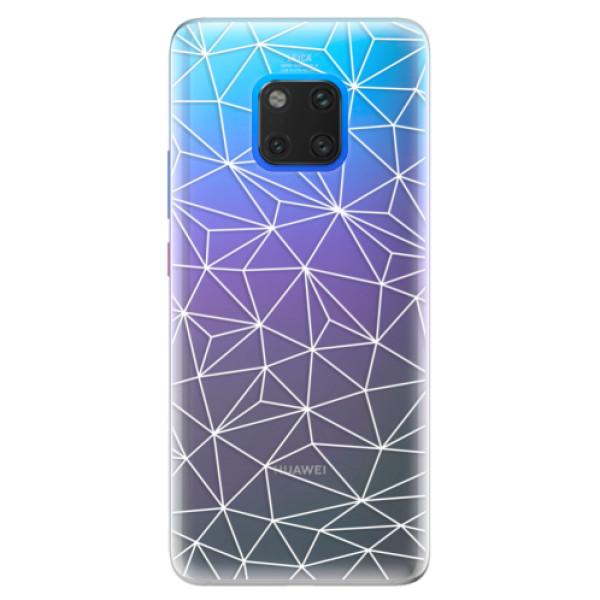 Silikonové pouzdro iSaprio - Abstract Triangles 03 - white - Huawei Mate 20 Pro