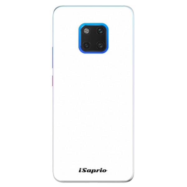 Silikonové pouzdro iSaprio - 4Pure - bílý - Huawei Mate 20 Pro
