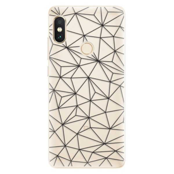 Silikonové pouzdro iSaprio - Abstract Triangles 03 - black - Xiaomi Redmi Note 5