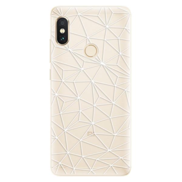 Silikonové pouzdro iSaprio - Abstract Triangles 03 - white - Xiaomi Redmi Note 5