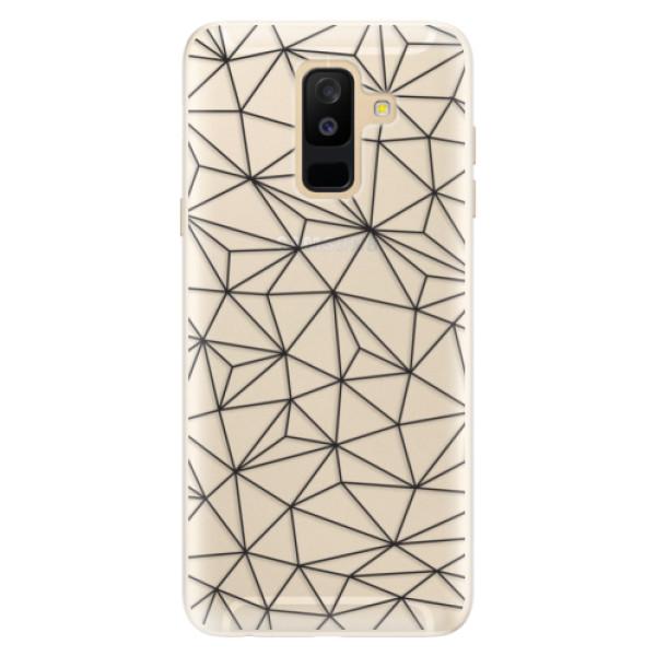 Silikonové pouzdro iSaprio - Abstract Triangles 03 - black - Samsung Galaxy A6+