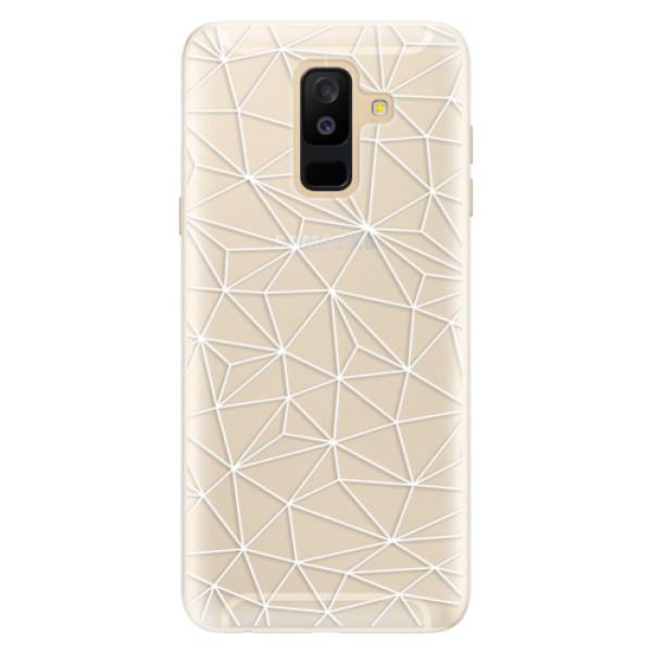 Silikonové pouzdro iSaprio - Abstract Triangles 03 - white - Samsung Galaxy A6+