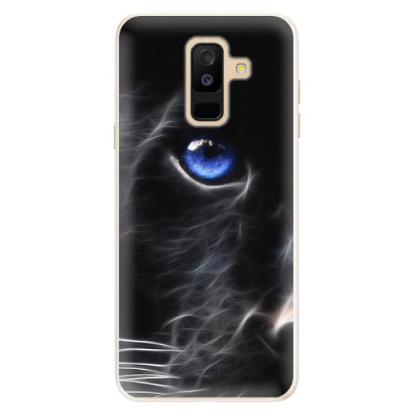 Silikonové pouzdro iSaprio - Black Puma - Samsung Galaxy A6+
