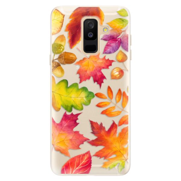 Silikonové pouzdro iSaprio - Autumn Leaves 01 - Samsung Galaxy A6+