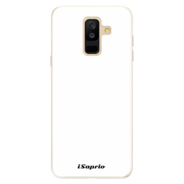 Silikonové pouzdro iSaprio - 4Pure - bílý - Samsung Galaxy A6+