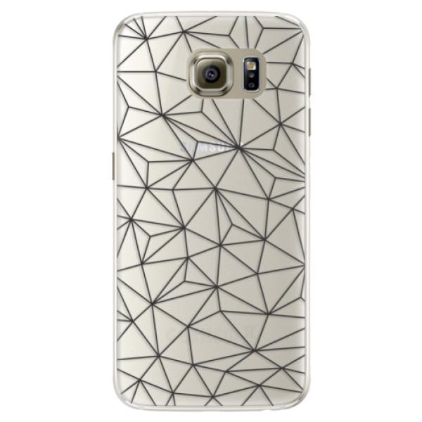 Silikonové pouzdro iSaprio - Abstract Triangles 03 - black - Samsung Galaxy S6