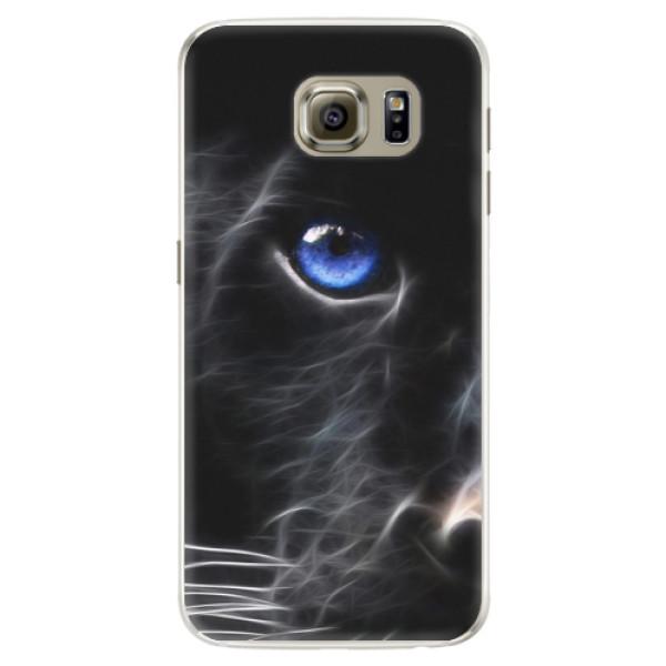 Silikonové pouzdro iSaprio - Black Puma - Samsung Galaxy S6