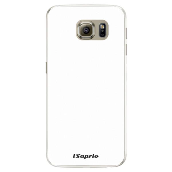 Silikonové pouzdro iSaprio - 4Pure - bílý - Samsung Galaxy S6