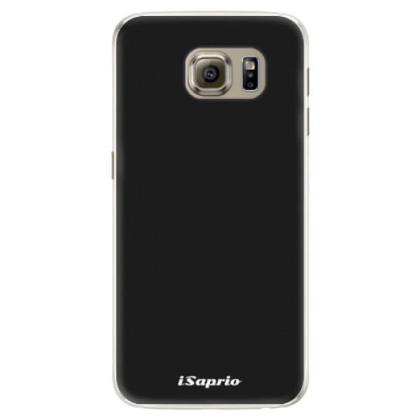 Silikonové pouzdro iSaprio - 4Pure - černý - Samsung Galaxy S6