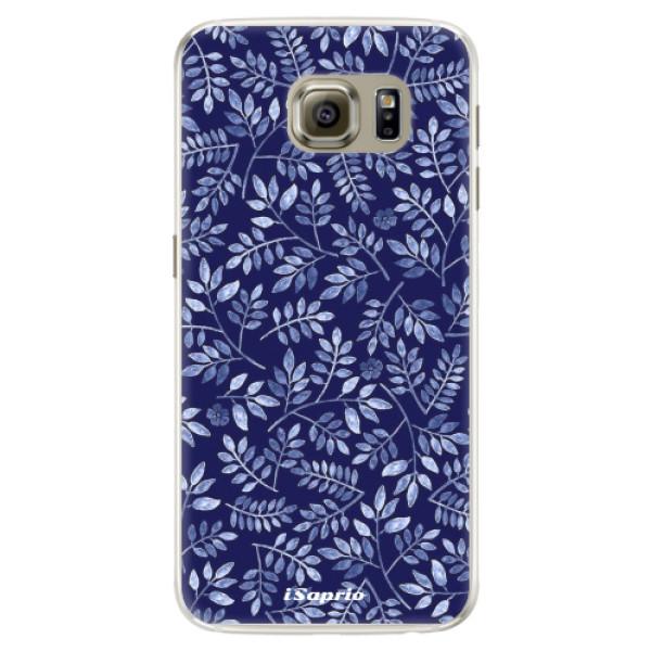 Silikonové pouzdro iSaprio - Blue Leaves 05 - Samsung Galaxy S6 Edge