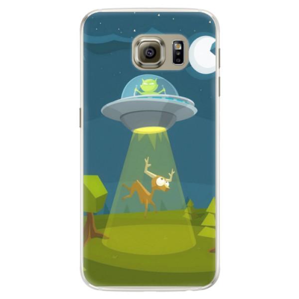 Silikonové pouzdro iSaprio - Alien 01 - Samsung Galaxy S6 Edge