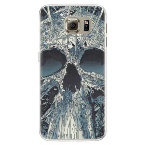 Silikonové pouzdro iSaprio - Abstract Skull - Samsung Galaxy S6 Edge