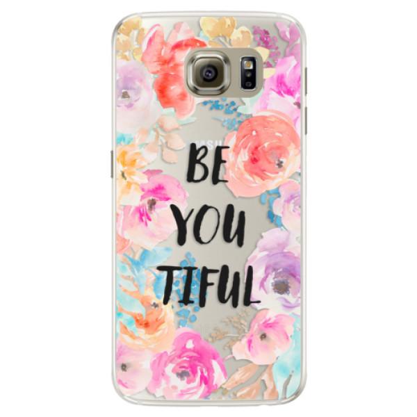 Silikonové pouzdro iSaprio - BeYouTiful - Samsung Galaxy S6 Edge