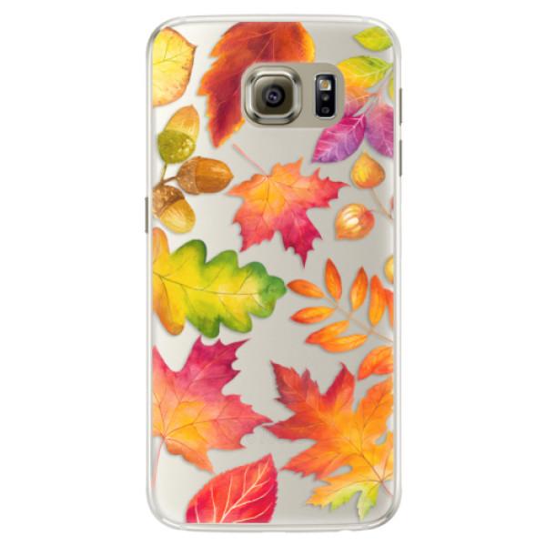 Silikonové pouzdro iSaprio - Autumn Leaves 01 - Samsung Galaxy S6 Edge