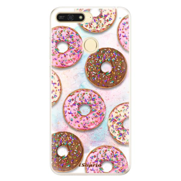 Silikonové pouzdro iSaprio - Donuts 11 - Huawei Honor 7A