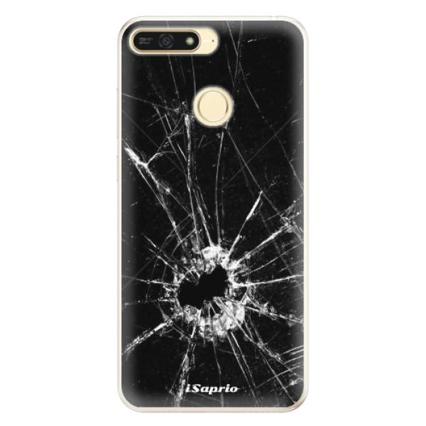 Silikonové pouzdro iSaprio - Broken Glass 10 - Huawei Honor 7A