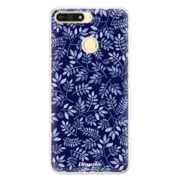 Silikonové pouzdro iSaprio - Blue Leaves 05 - Huawei Honor 7A